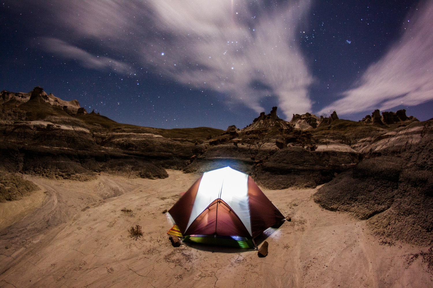 Adventure camping clouds